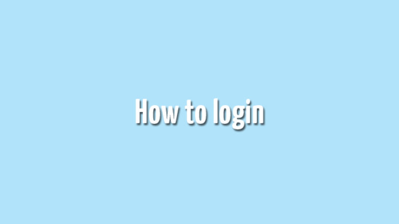 How to Log In (Sign In)